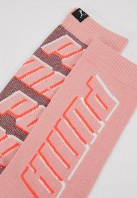 Puma - ALL OVERLOGO 2 PACK - Sports socks - rose water - 2