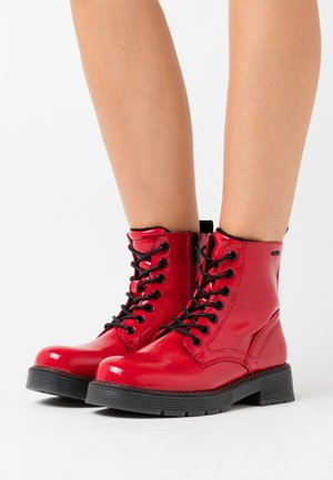 Lace-up ankle boots - fire