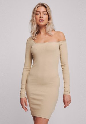 Shift dress - beige