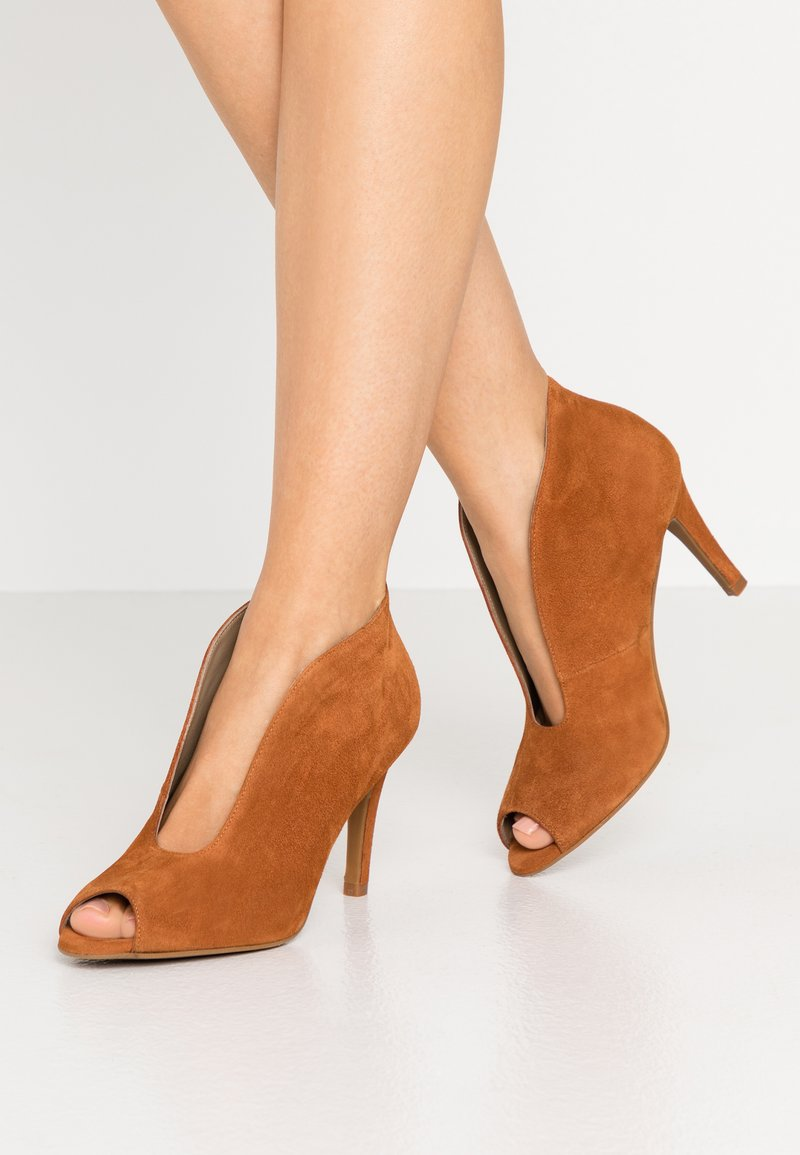 Toral - High heeled ankle boots - cognac
