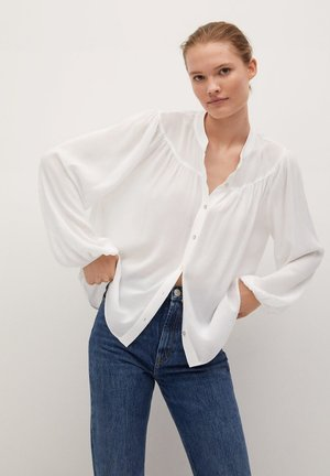 MINT - Button-down blouse - blanc cassé