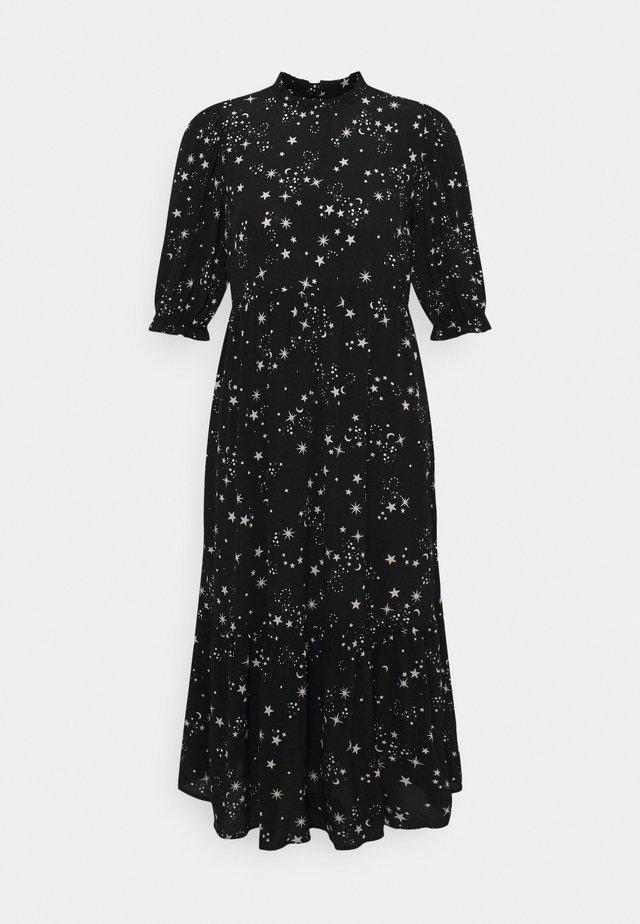PIECRUST PUFF STAR DRESS - Day dress - black
