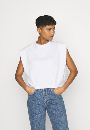 FORM FOCUS SHOULDER TANK - Basic T-shirt - white
