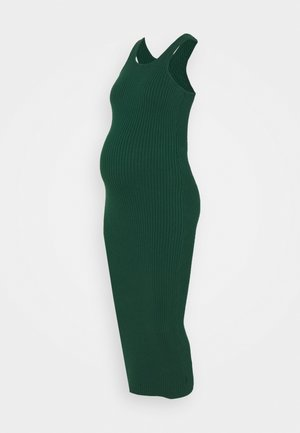 RACERBACK MIDI DRESSES WITH ROUND NECKLINE - Jersey dress - forest green