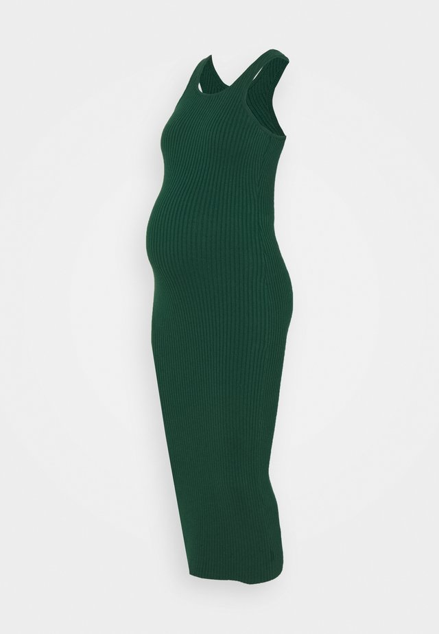 RACERBACK MIDI DRESSES WITH ROUND NECKLINE - Jerseykjole - forest green