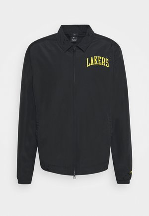 NBA LA LAKERS ESSENTIAL LIGHTWEIGHT JACKET - Club wear - black/amarillo