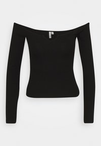 OFF SHOULDER - Pitkähihainen paita - black