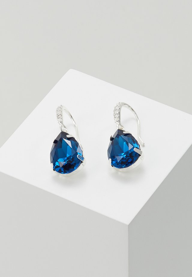 BIRGIT STONE PENDANT EAR - Earrings - silver-coloured/blue