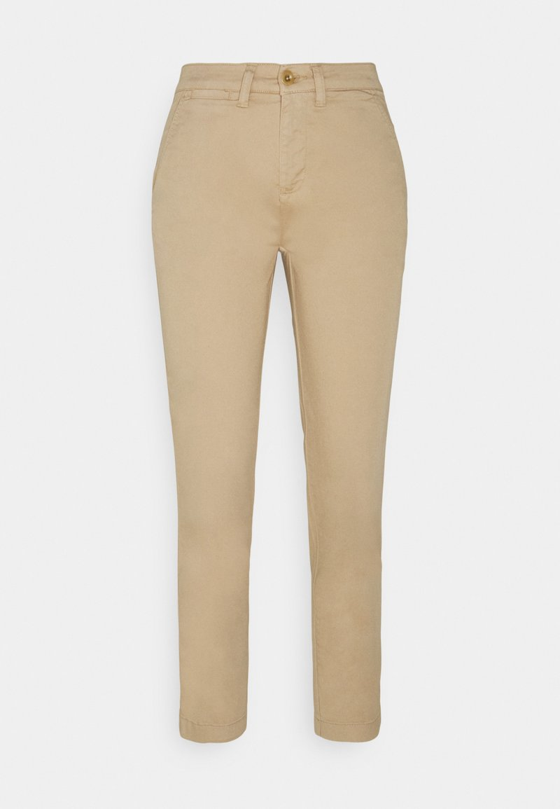 Lauren Ralph Lauren Petite - GABBY SLIM LEG PANT - Trousers - birch tan