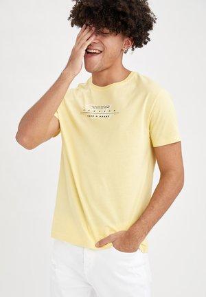 T-shirt med print - yellow
