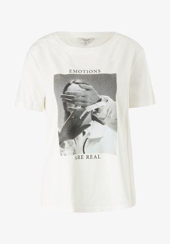 MIT FOTOPRINT - Print T-shirt - white placed print