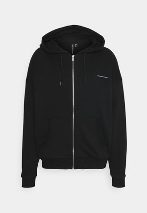 RELEXED FIT ZIP THRU HOOD - Zip-up hoodie - black