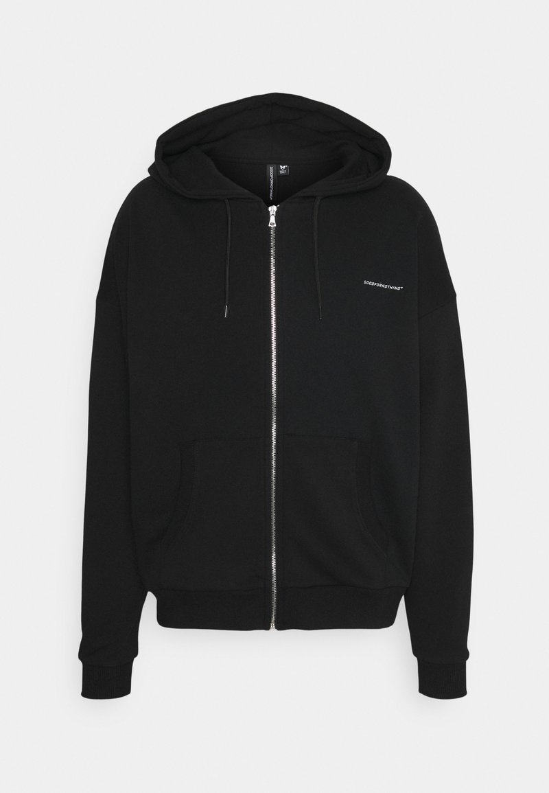 Good For Nothing - RELEXED FIT ZIP THRU HOOD - Zip-up hoodie - black