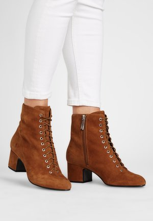 RACHEL - Lace-up ankle boots - cognacbraun