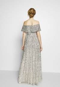 Maya Deluxe - SCATTERED SEQUIN BARDOT MAXI DRESS - Suknia balowa - soft grey - 2