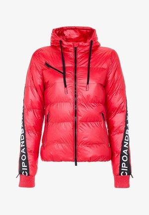 MIT WÄRMENDER KAPUZE - Winter jacket - darkred