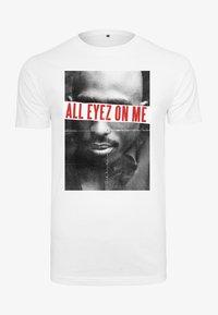 2PAC ALL EYEZ ON ME - Print T-shirt - white