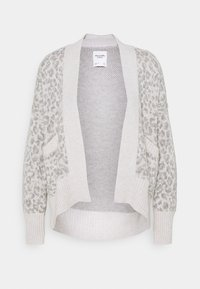 Abercrombie & Fitch - IN SLIDE SLIT PATTERN - Cardigan - light grey - 0