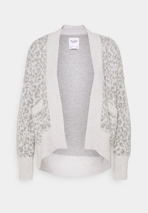 IN SLIDE SLIT PATTERN - Cardigan - light grey
