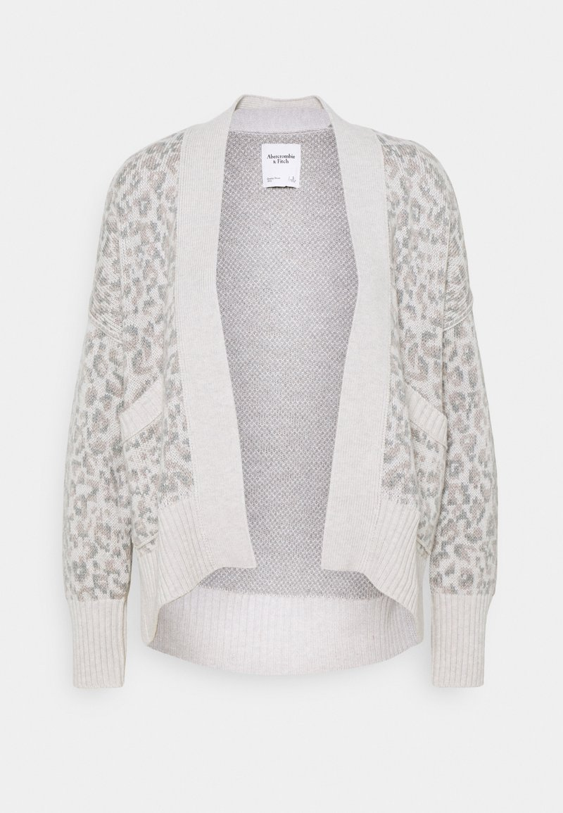 Abercrombie & Fitch - IN SLIDE SLIT PATTERN - Cardigan - light grey