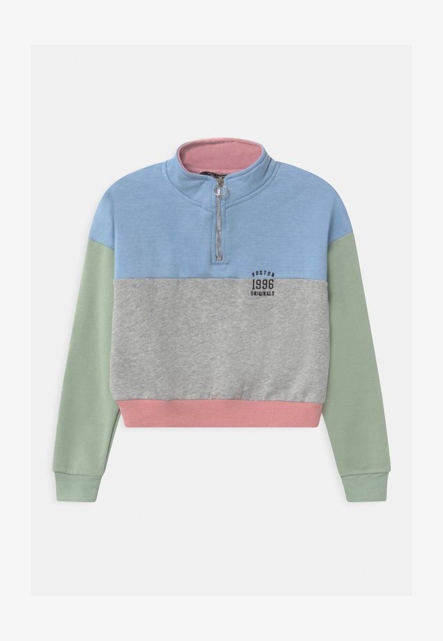 PASTEL BLOCKING ZIP  - Sweatshirt - multi-coloured