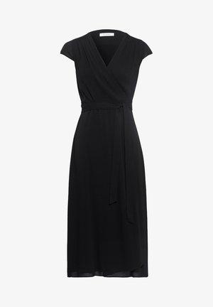 WRAP DRESS MIDI LENGTH - Denní šaty - black