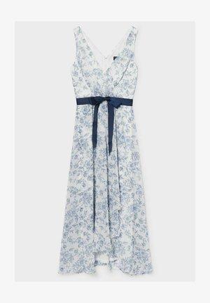 Day dress - white / blue