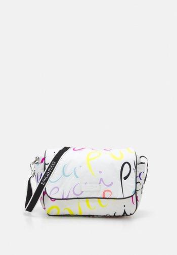 MAMY BAG SET - Across body bag - bianco/multicolor