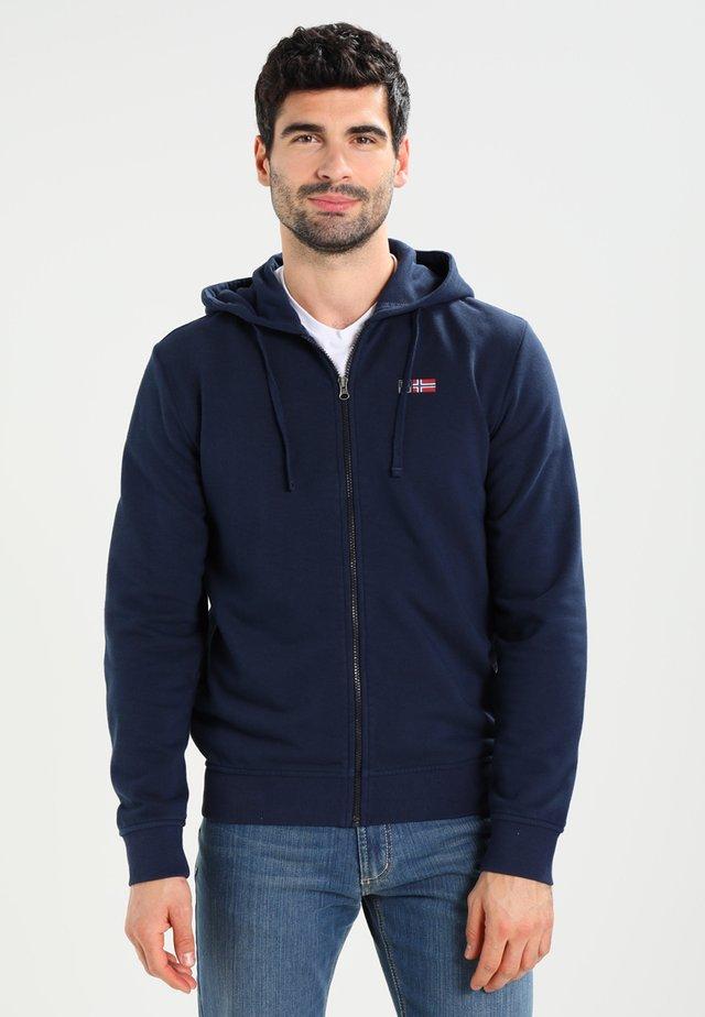 BENOS FZ - Zip-up hoodie - blu marine