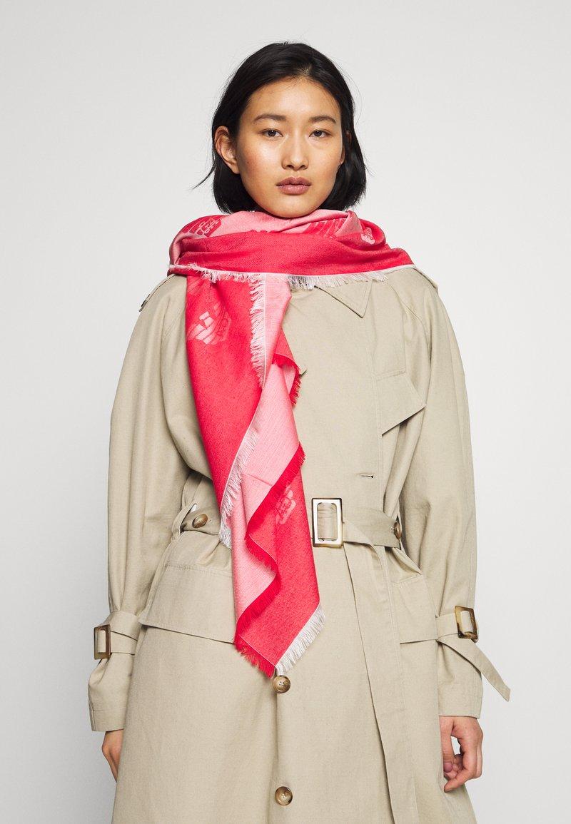 Emporio Armani - FOULARD TILED EAGLE PRINT - Šátek - graphic red