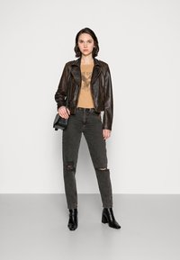 Freaky Nation - BESTIE - Leather jacket - antique brown - 1
