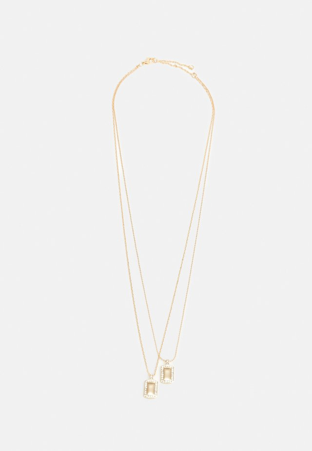 TWO TAG NECKLACE - Ketting - gold-coloured