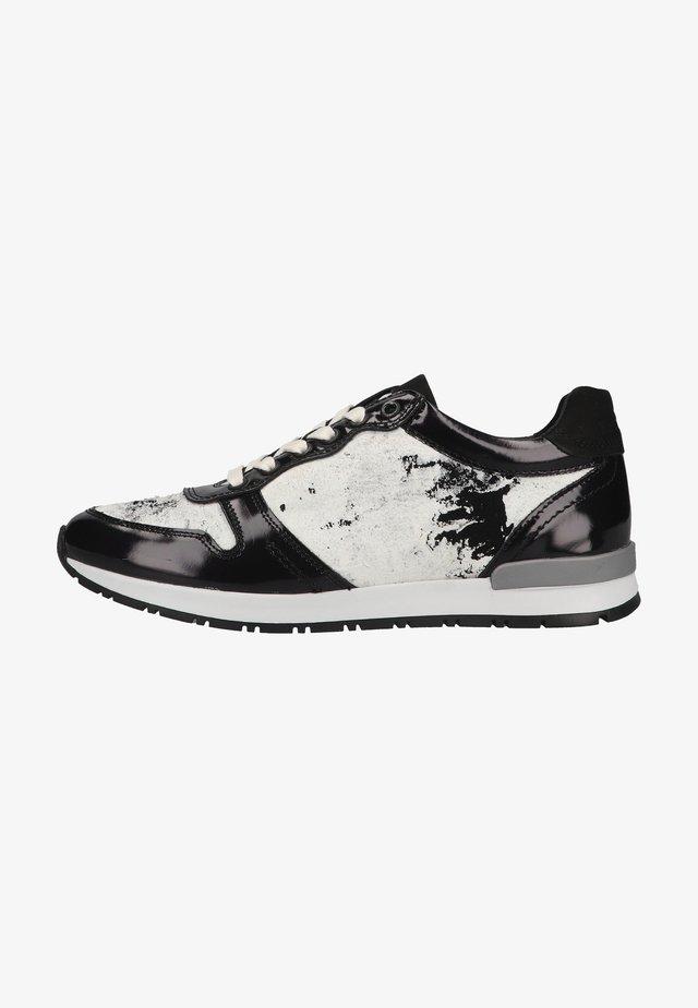 Sneakers laag - schwarz/weiß