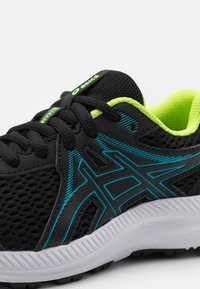 ASICS - CONTEND 7 UNISEX - Scarpe running neutre - black/digital aqua