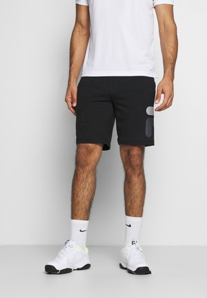 ROBERT - Sports shorts - black