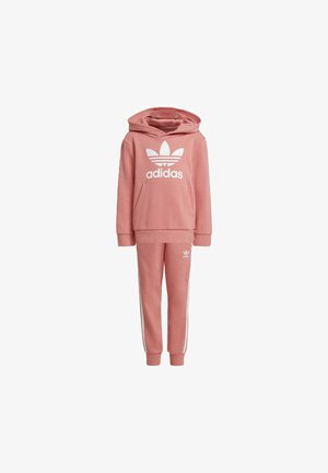 TREFOIL HOODIE SET - Sweat à capuche - hazy rose/white