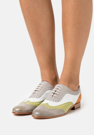SALLY 97 - Lace-ups - light grey/mint/white/rich tan/natural