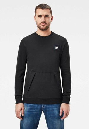 BOX LOGO POCKET TWEATER - Sweater - dk black