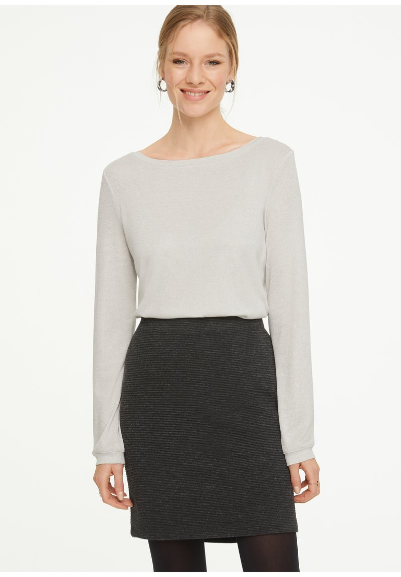 comma casual identity - Long sleeved top - white