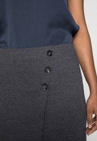 Esprit - JAQUARD SKIRT - Pencil skirt - grey/blue - 4