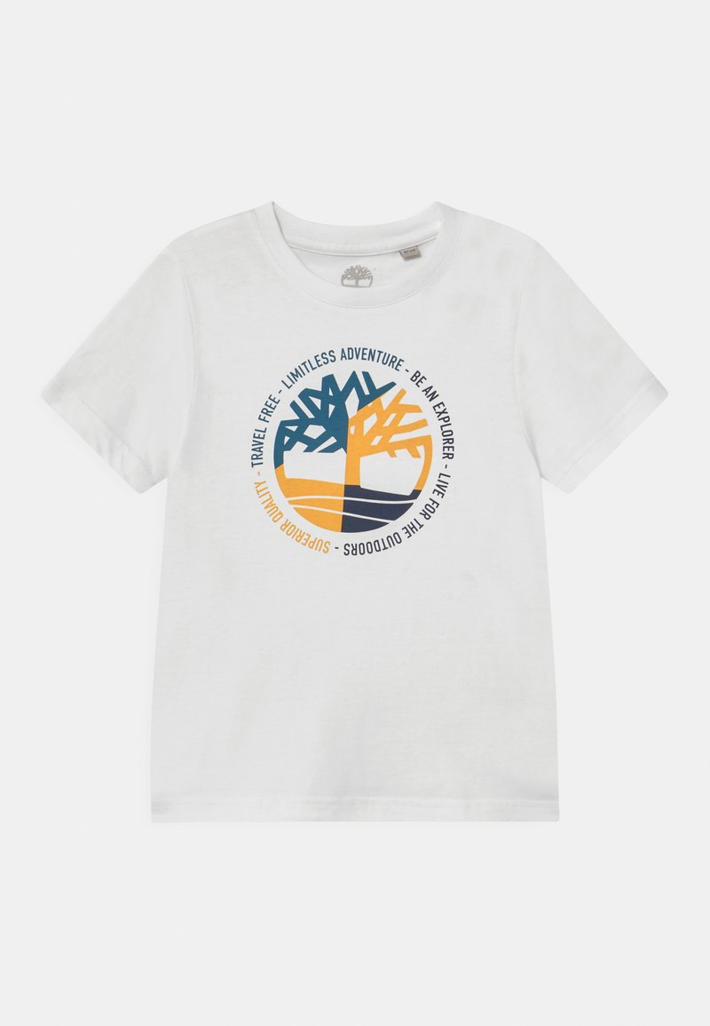 Timberland - SHORT SLEEVES  - Print T-shirt - white