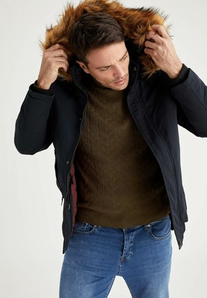 SLIM FIT DEFACTO - Winter jacket - navy
