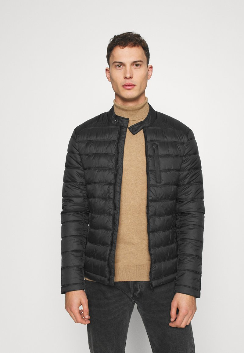 Superdry - COMMUTER QUILTED BIKER - Light jacket - black