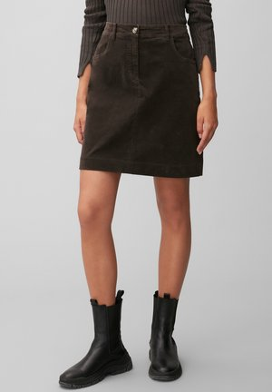 A-line skirt - dark chocolate