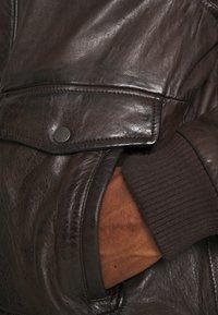 Serge Pariente - NEW PILOT - Leather jacket - brown - 7