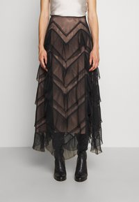 TWINSET - GONNA LUNGA BALZE - A-line skirt - nero - 0
