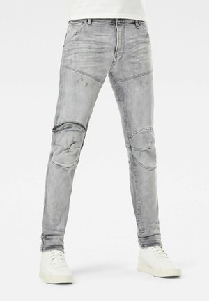 5620 3D ZIP KNEE SKINNY - Jeans Skinny Fit - vintage oreon grey destroyed