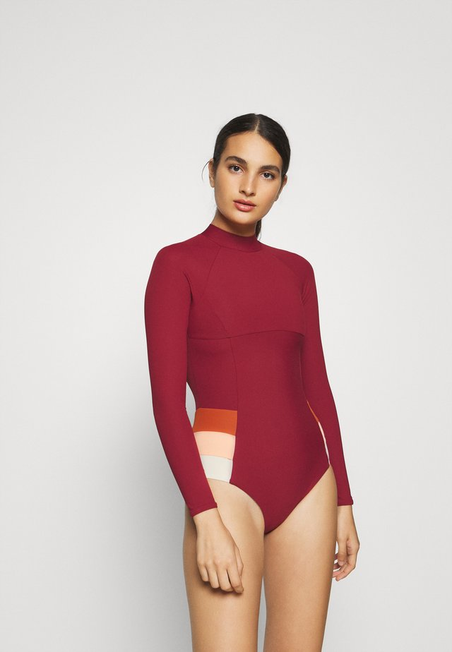 GOLDEN DAZE SSUIT - Costume da bagno - maroon