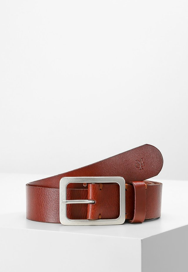 BELT LADIES - Belt business - cognac/silver