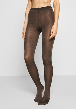 FALKE SNOB APPAREL 80 DENIER STRUMPFHOSE BLICKDICHT GROB - Tights - chokolate